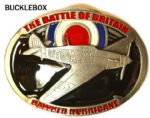 Hawker Hurricane Battle of Britain Belt Buckle + display stand. Code AM3